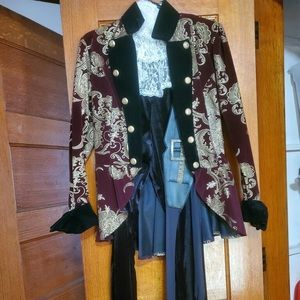 Elegant pirate lady Halloween or theater costume